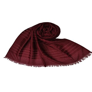 Stripes and Patches Embroidered All Over The Hijab - Maroon
